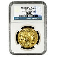 2013 $50 Gold Bufflao NGC MS69 ER
