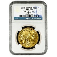 2013 $50 Gold Bufflao NGC MS70 ER