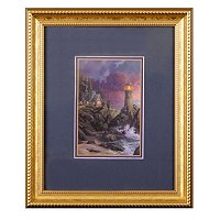 "Thomas Kinkade ""Split Rock Light"" Framed Paper"