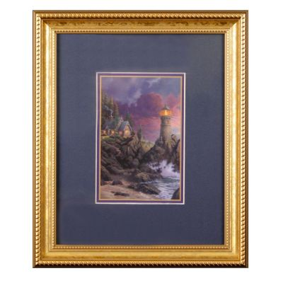 "435-866 - Thomas Kinkade ""Rock of Salvation"" Framed Print"