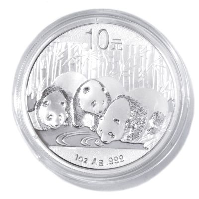 436-000 - 2013 10 Yuan 1 oz Silver BU China Panda Coin w/ Display Box