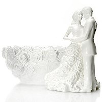 Waterford Crystal Monique Lhuillier Sunday Rose Bowl & Cake Topper