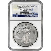 2013 (W) Silver Eagle NGC MS70 Early Releases