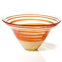"Waterford Evolution Red and Amber 12"" Bowl"