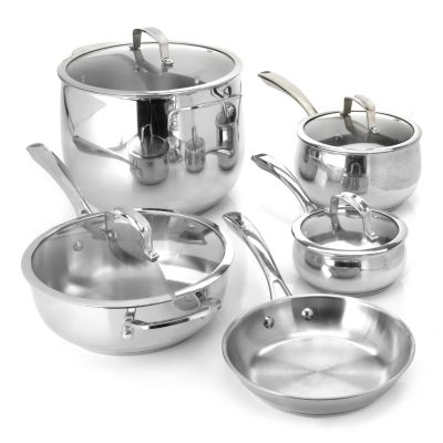 436-242 - Macy's Tools of the Trade® Belgique® 9-Piece Stainless Steel Cookware Set