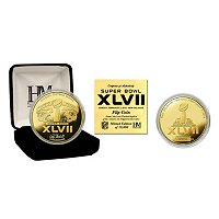 Super Bowl XLVII 24KT Gold Flip Coin