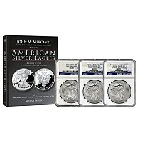 2013 Silver Eagle Collection NGC MS70 ER (From 3 Different Mints) with Book