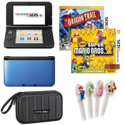 436-264 - Nintendo 3DS XL System, Case, Nintendo Character Stylus 4-Pack & Two Games