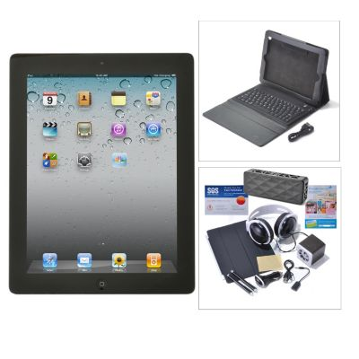 "436-271 - Apple® iPad® 4th Gen 9.7"" Wi-Fi or Wi-Fi+4G Tablet w/ Accessories Kit"