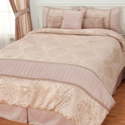 "436-350 - North Shore Linens™ ""Chartres"" Seven-Piece Bedding Ensemble"
