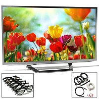 LG 55G2 55in LED HDTV Bundle with Cable Pack