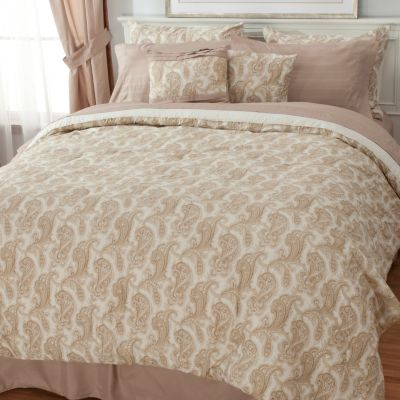 436-397 - North Shore Linens™ Paisley Microfiber 10-Piece Sheet & Bedding Ensemble