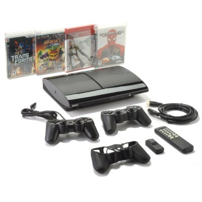 436-406 - Sony® PlayStation® 3 250GB Game Console w/ 4 PS3™ Games & Accessories