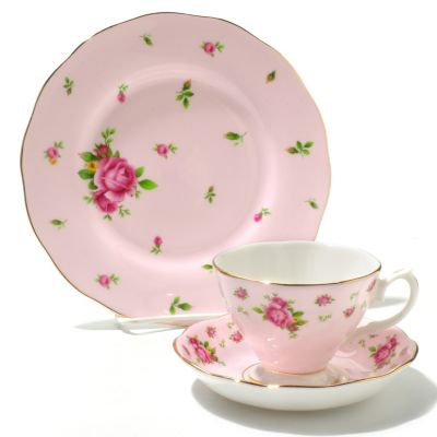 436-431 - Royal Albert® New Country Roses Three-Piece Bone China Tea Set