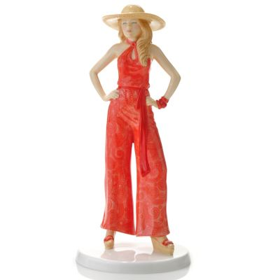 "436-433 - Royal Doulton® Fashion of the Decades: 1970s ""Charlie"" 9.25"" Figurine -Signed"