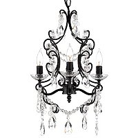 Gallrey Victoria Collection 4-Light Chandelier with Crystal Glass