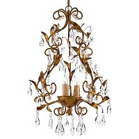 Gallery Victoria Collection 3-Light Chandelier with Crystal Glass