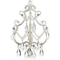 Gallery Victoria Collection 1-Light Chandelier with Crystal Glass