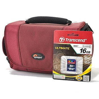 436-557 - Lowepro® Camcorder Case & Transcend 16GB SDHC Memory Card