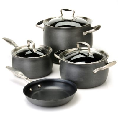 436-656 - Macy's Tools of the Trade® Belgique® Hard Anodized 7-Piece Cookware Set