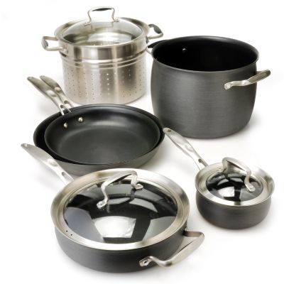 436-657 - Macy's Tools of the Trade® Belgique® Hard Anodized 9-Piece Cookware Set