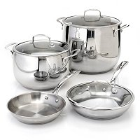 Macy's Belgique Stainless Steel 7 Piece Cookware Set