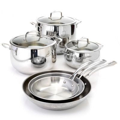 436-660 - Macy's Tools of the Trade® Belgique® Nine-Piece Stainless Steel Cookware Set