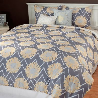 "436-672 - North Shore Linens™ ""Naomi"" Five-Piece Reversible Bedding Ensemble"