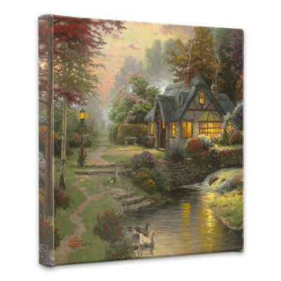 "436-694 - Thomas Kinkade ""Stillwater Cottage"" Gallery Wrap"