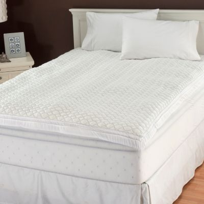 "436-704 - Cozelle® 2"" Gusseted Mattress Pad w/ Fitted Skirt & Water Guard"