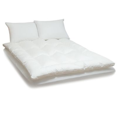 436-730 - Cozelle® Gel-Coated Microfiber Bed Topper w/ Two Pillows