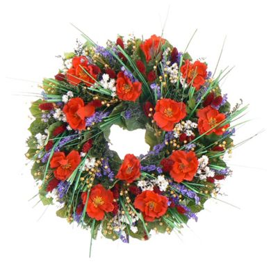 436-737 - TCTC Brilliant Poppies Dried Floral Wreath