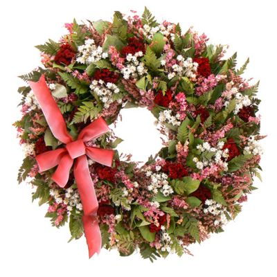 "436-738 - TCTC Cupid's Crush 22"" Dried Floral Wreath"