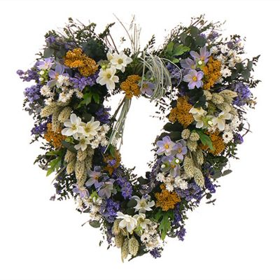 "436-745 - TCTC Love Awaken 17"" Dried Floral Heart Wreath"