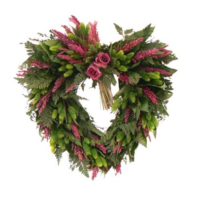 "436-747 - TCTC Love Eternal 17"" Dried Floral Heart Wreath"