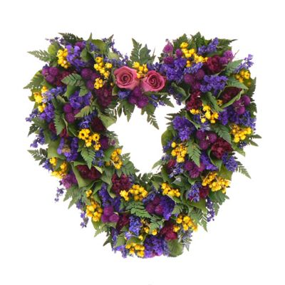 "436-748 - TCTC Loving Spring 17"" Dried Floral Heart Wreath"