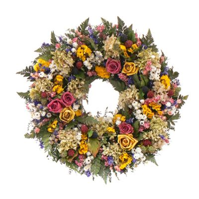 "436-751 - TCTC Petals and Pomes 18"" Dried Floral Wreath"