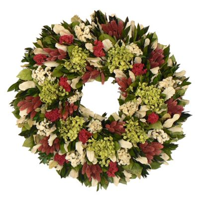 436-753 - TCTC Ravishing Raspberry Dried Floral Wreath