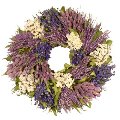 "436-756 - TCTC Variations in Violet 22"" Dried Floral Wreath"