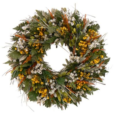 436-758 - TCTC Wild Daisy Stroll Dried Floral Wreath