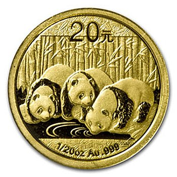 436-841 - 2013 20 Yuan 1/20 oz Gold China Panda Coin w/ Display Box
