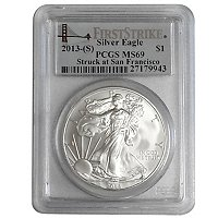 2013 (S) Silver Eagle First Strike PCGS MS69