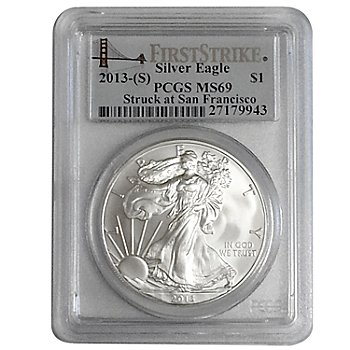 436-846 - 2013 Silver Eagle First Strike MS69 PCGS (S) Coin