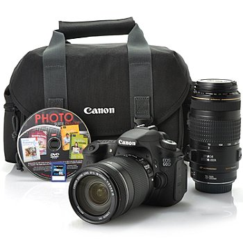 436-898 - Canon EOS 60D 18MP 1080p DSLR Camera w/ 8GB SD Card, Two Zoom Lenses, Bag & Software