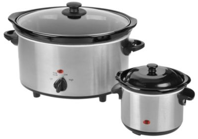 437-110 - Kalorik® Stainless Steel Slow Cooker & Dipper