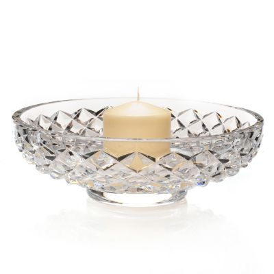 "437-470 - Waterford® Illuminology Diama 11.5"" Crystal Candle Bowl w/ Candle"