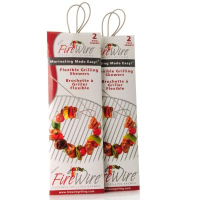 437-768 - Fire Wire® Eight-Piece Flexible Grill Skewer & Dry Marinating Kit
