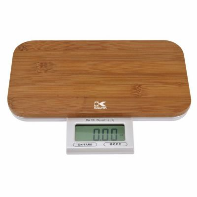 437-834 - Kalorik® Electronic Bamboo Kitchen Scale