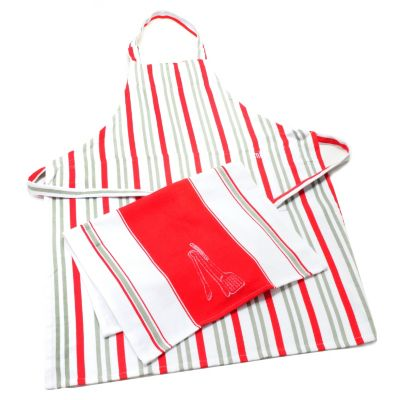 437-852 - MUKitchen® Two-Piece Magnetic Cotton Apron & Towel Set