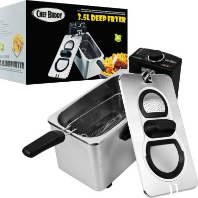 437-873 - Chef Buddy™ 3.5 Liter Electric Deep Fryer Stainless Steel